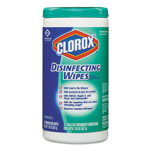 Clorox Disinfecting Wipes Fresh Scent 6/75
