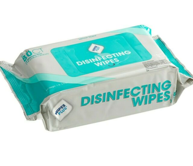 WipesPlus Disinfectant Wipes 12/80