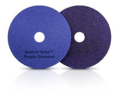 "3M 17"" Purple Diamond Floor Pads cs/5"